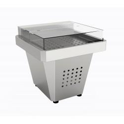 Espositore Aquamarina per salumi e formaggi con evaporatore micro ventilato posteriore  1057x1030x922h
