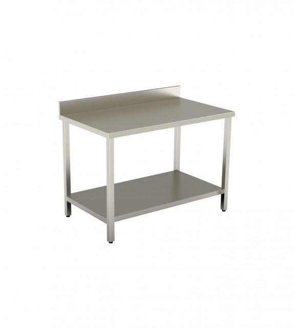 Tavolo con ripiano inferiore e alzatina posteriore 1600X700