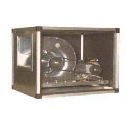 Coupled centrifugal fan with double air inlet